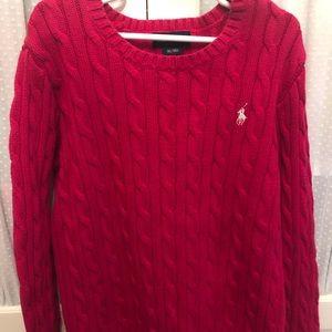Kids Ralph Lauren cable knit pink sweater